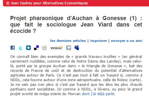 Blog de Jean Gadrey - Alternatives éconmiques