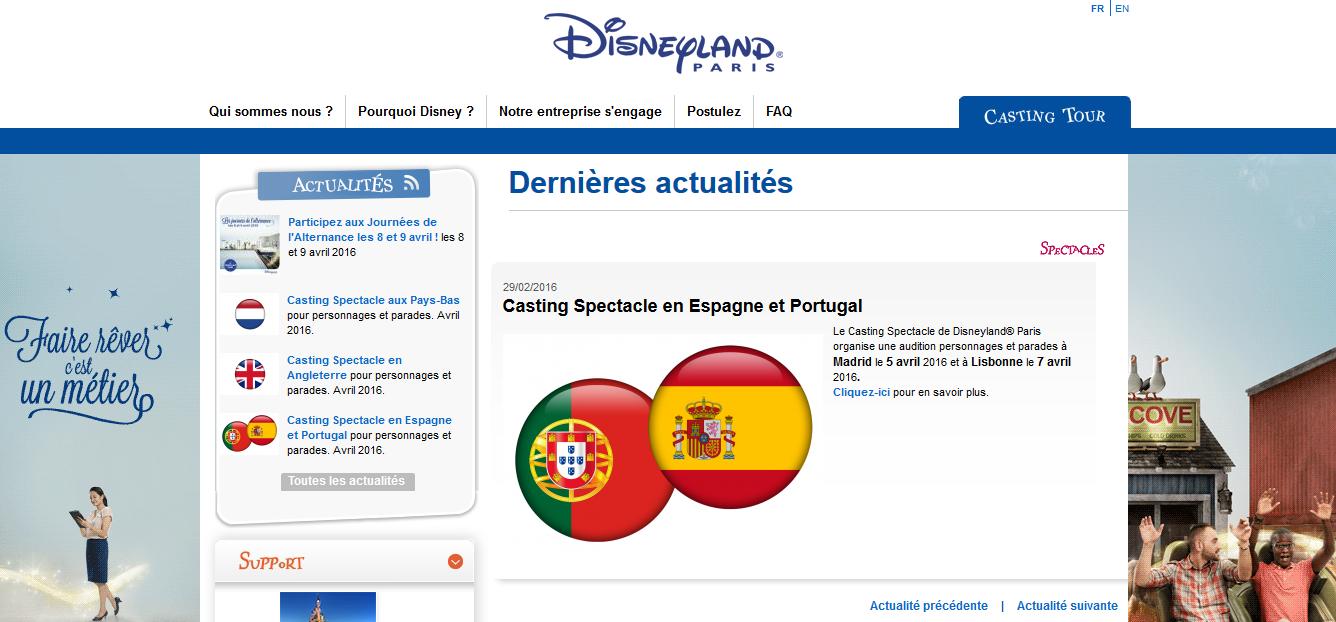 Casting Spectacle en Espagne et Portugal